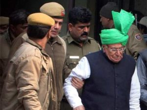 Om Prakash Chautala after Founding Guilty in JBT Recruitment Scam