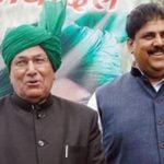 Om Prakash Chautala with his son Ajay Singh Chautala