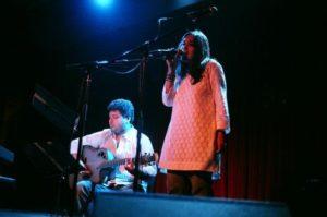 Pia Sukanya during her singing performance