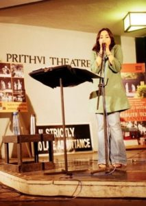 Pia Sukanya performing at theatre