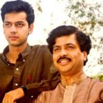 Rahul Mahajan with his father Pramod Mahajan