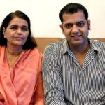 Rahul Mahajan with his mother Rekha Mahajan