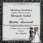 Rakhi Sawant And Deepak Kalal Wedding Card
