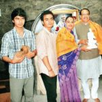 Sadhna Singh with her children and husband