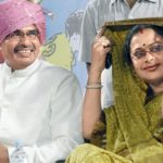 Sadhna Singh with her husband