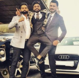 Goldy Kahlon with his best friends Satpal Malhi and Parmish Verma