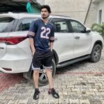 Satpal Malhi with his car (Fortuner)