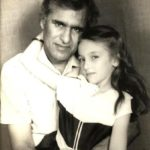 Saumya Tandon (Childhood) with her father B. G. Tandon