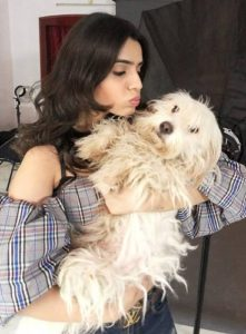 Sidhika Sharma Dog Lover
