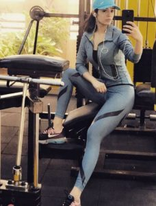 Sidhika Sharma in a gym