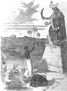 Thug Behram worshipping Goddess Kali (a painter's imagination)