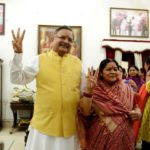 Veena Singh with her husband, Raman Singh