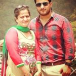 Veer Rajwant Singh with his mother
