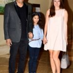 Vindu Dara Singh with his wife Dina Umarova and daughter Amelia Randhawa