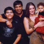 Dina Umarova with her husband Vindu Dara Singh,, stepson Fateh Randhawa, and daughter Amelia Randhawa