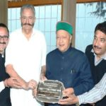 Virbhadra Singh receiving his National Award of Excellence