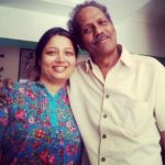 Virendra Saxena with his wife Samta Sagar