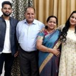 Aastha Chaudhary with her family