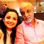 Adaa Khan with her father Abbas Khan