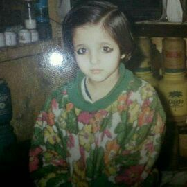Anjali Raghav during her childhood