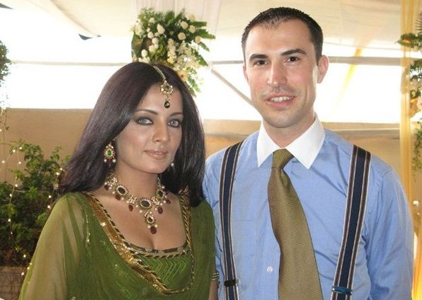 Celina Jaitley and Peter Haag