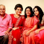 Charulatha with her family