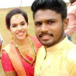 Charulatha with her husband Sanju Samson