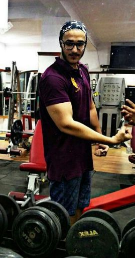 Deep Kalsi during his workout