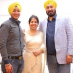Deep Kalsi with his parents