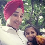 Deep Kalsi with his sister