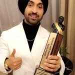 Diljit Dosanjh With Dadasaheb Phalke Award for the Most Trending Personality of the Year