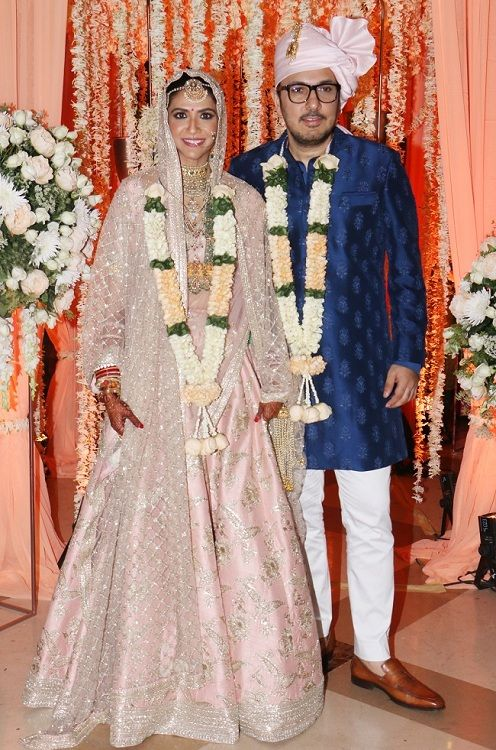 Dinesh Vijan with his wife on his wedding day