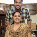 Guri Singh with his mother