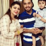 Guri Singh with his sister and nephew