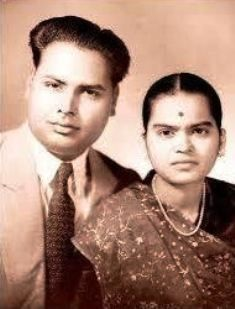 Kokilaben Ambani and Dhirubhai Ambani in younger days