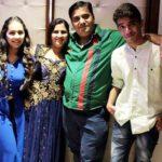 Payal Bhojwani with her parents and brother Nilesh Bhojwani