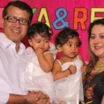 Priti Sapru with her husband and daughters