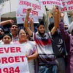 Protest Against Sajjan Kumar