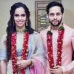 Parupalli Kashyap and Saina Nehwal's marriage photo