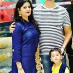 Sooraj Thapar with his wife Deepti Dhyani and son Vishvm Thapar
