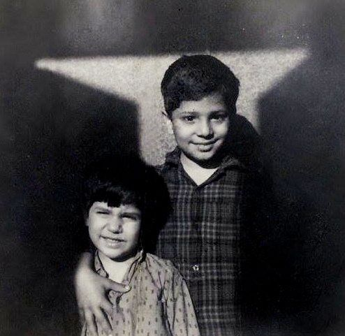 Suhel Seth (Right) and Swapan Seth (Left) childhood picture