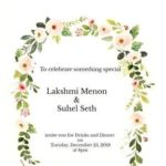 Suhel Seth and Lakshmi Menon marriage invitation