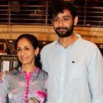 Swaroop Sampat with her elder son Aniruddh Rawal