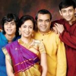 Swaroop Sampat with her family