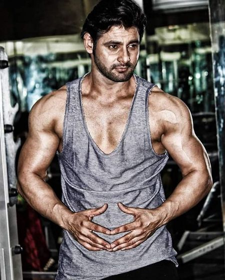 Vijay Verma during his workout