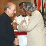 Anupam Kher Receiving Padma Shri Award