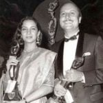 Anupam Kher With His Filmfare Award - Best Actor for Saaransh