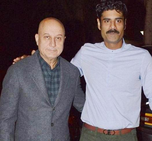 Anupam Kher With His Step-son Sikandar Kher