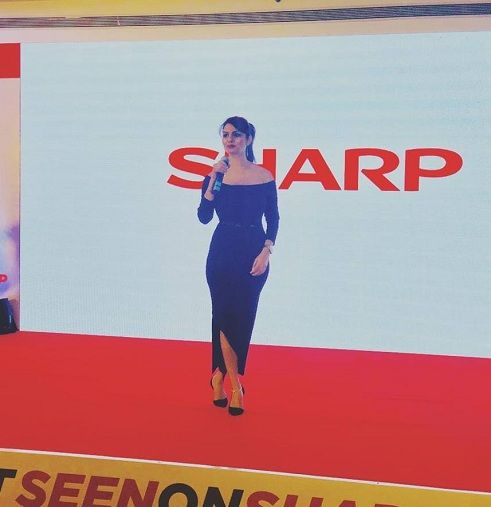Anveshi Jain hosting an event