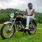 Emiway Bantai Sitting On His MotorCycle